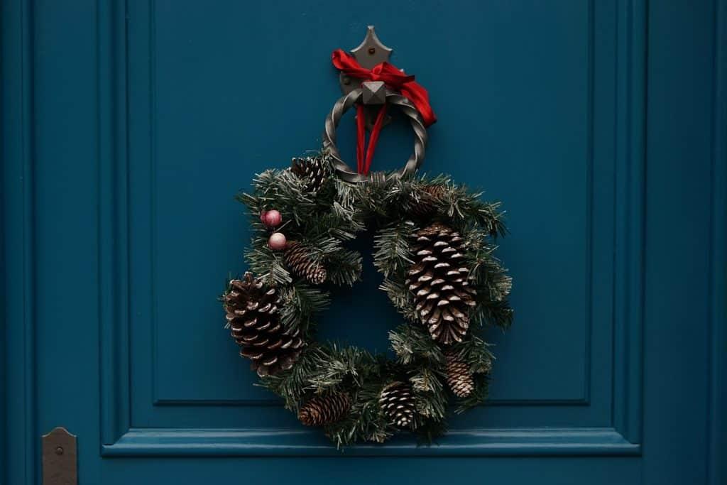 Decoración navideña, muérdago, Papá Noel