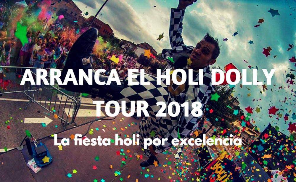 Holi Dolly Tour 2018, fiestas holi