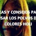 Ideas uso polvo colores holi