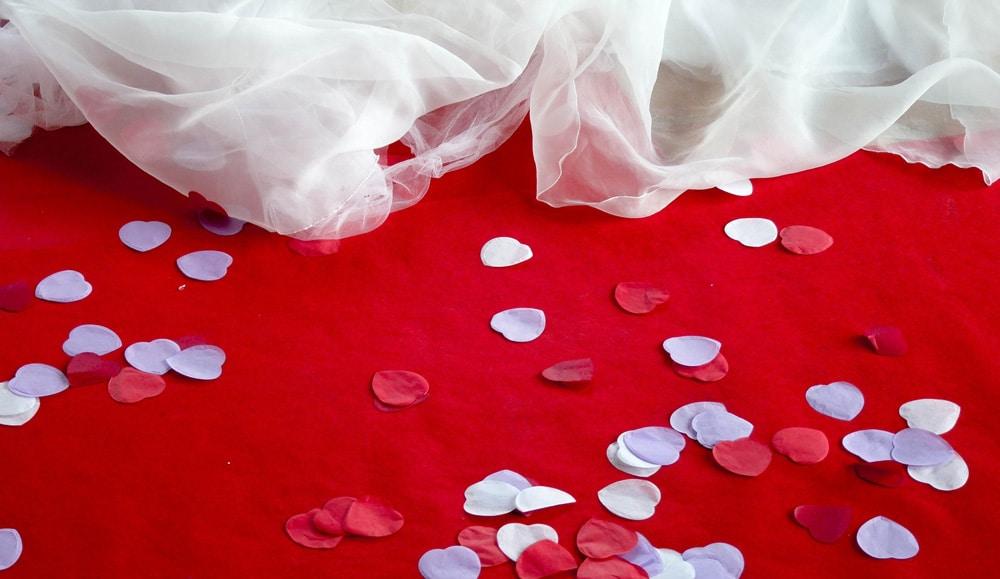 Pétalos papel para bodas