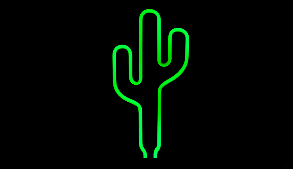 Lámpara Neon Scultpure Cactus