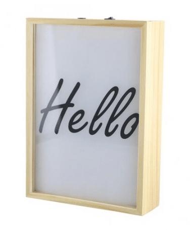 Lightbox de madera con poster