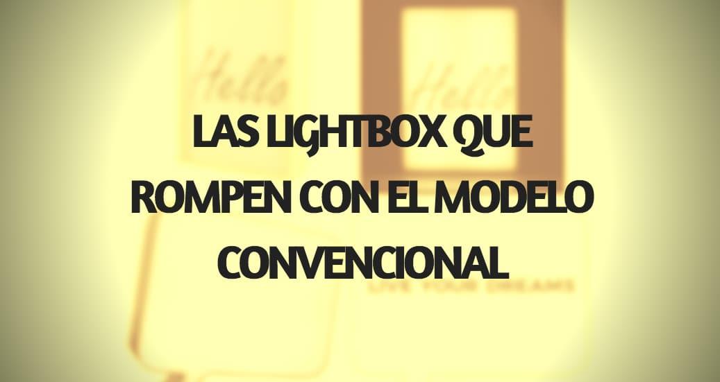 Nuevas lightbox de madera con póster y Speech Bubble