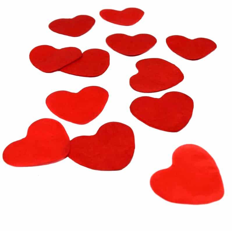 Cañón confeti corazones