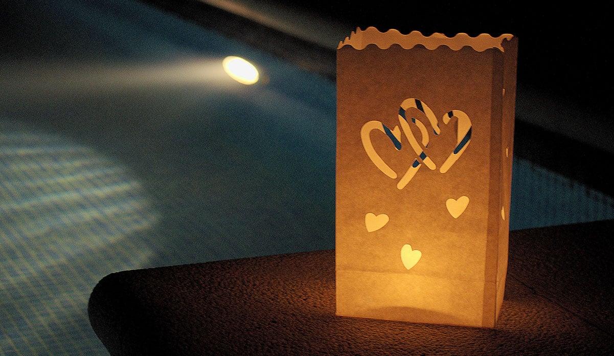 Bolsas de luz fiesta piscina