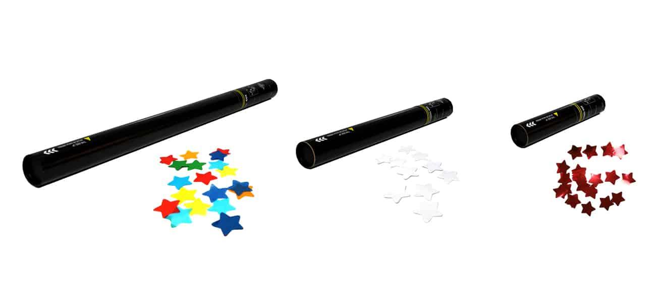 Cañones manuales confeti estrellas
