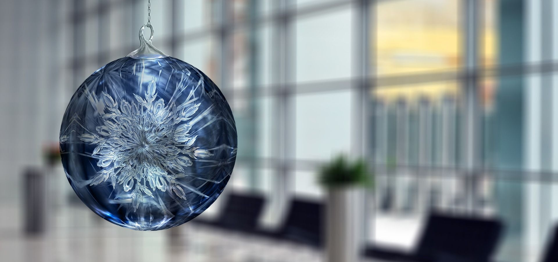 Decoración navidad oficina