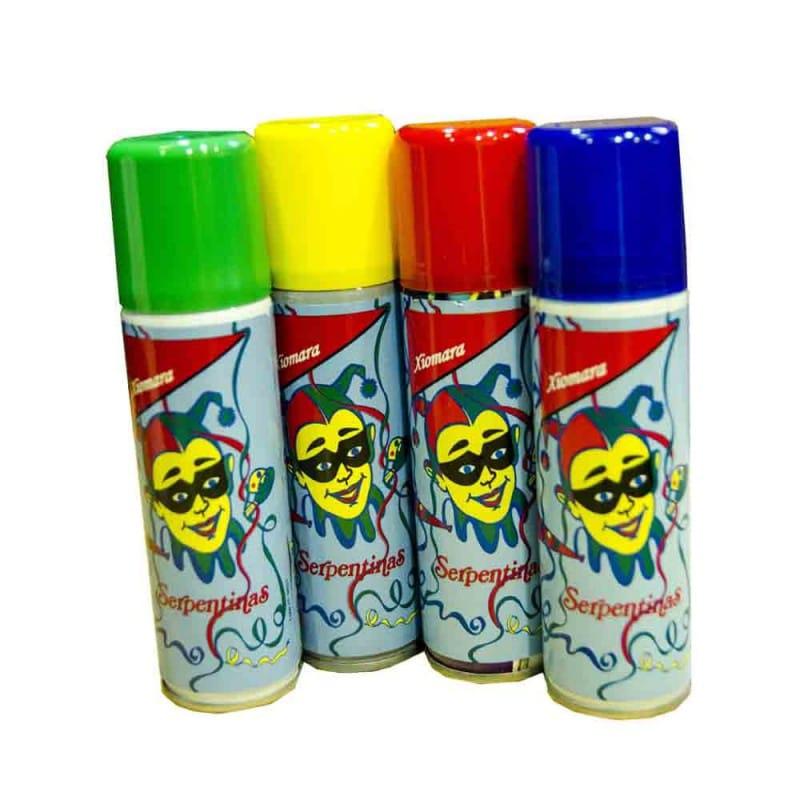 Serpentinas spray fiestas