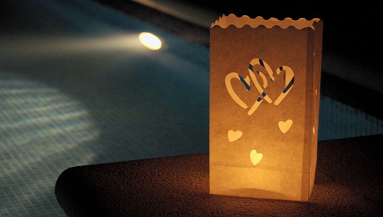 Bolsa velas corazones